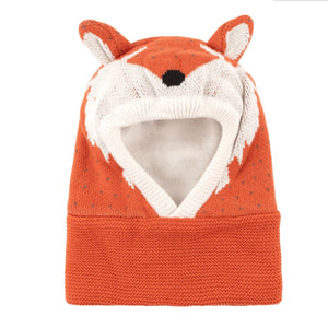 Zoocchini Knit Balaclava Hat - Finley the Fox