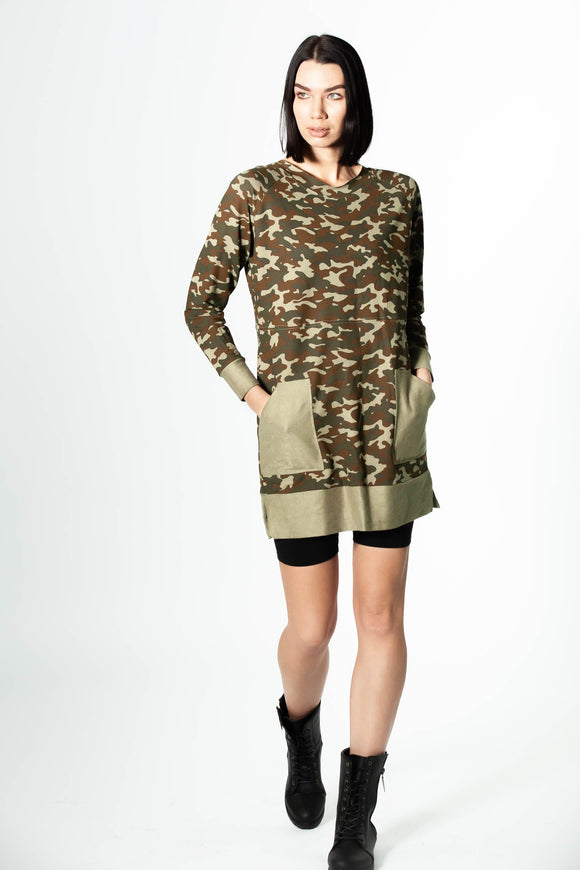 Areta with Love - Camo Weekend Dress