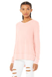 Women's Alo Yoga Glimpse Long Sleeve - Pink Mauve