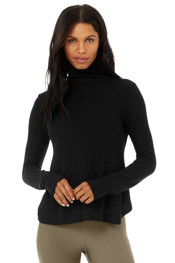 Women's Alo Yoga Embrace Long Sleeve - Black
