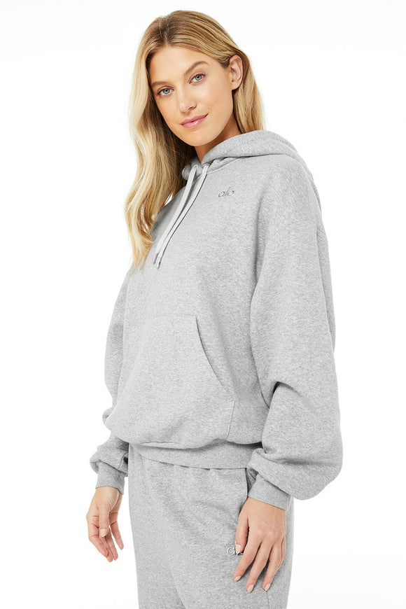 Women's Alo Yoga Accolade Hoodie - Dove Grey Heather