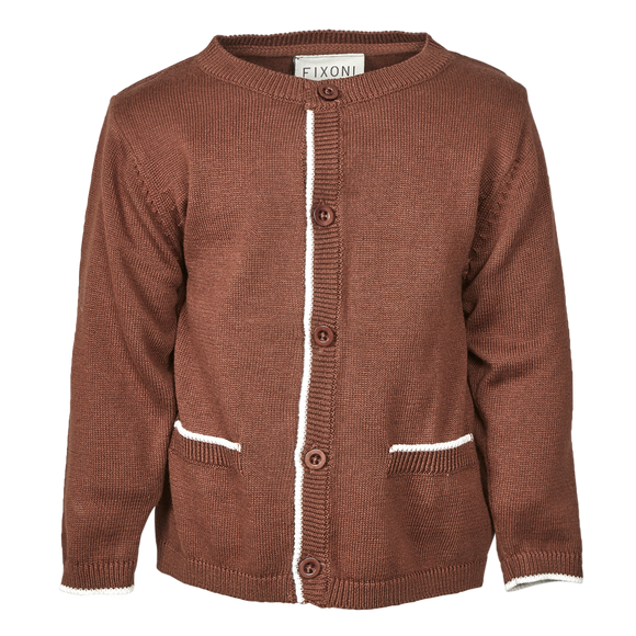 Fixoni Cardigan- Brown