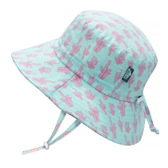 JAN & JUL GRO-WITH-ME 50+ UPF Cotton Bucket Hat -Coral