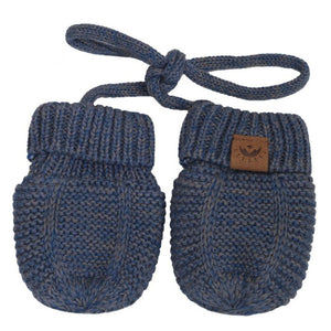 Calikids Knit Baby Mitts - Denim Mix