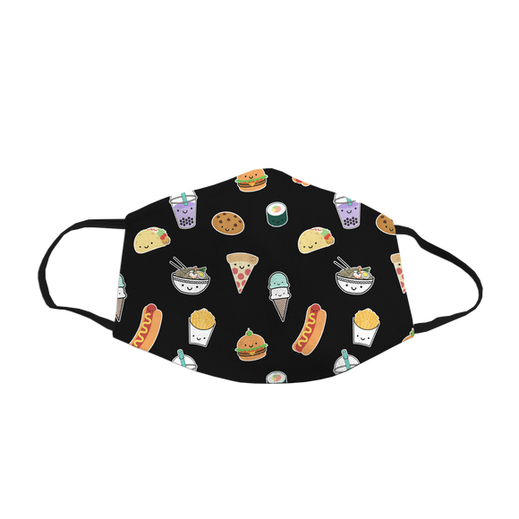 Whistle & Flute Kawaii Face Mask - All Over Food