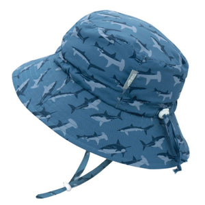 Copy of JAN & JUL GRO-Kids' Gro-With-Me® Aqua-Dry Bucket Sun Hat | Shark
