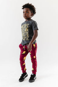 Whistle & Flute Bamboo Joggers -Allover Lightning Bolt