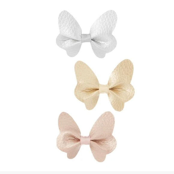 Mimi & Lula Metallic Butterfly Clip Set