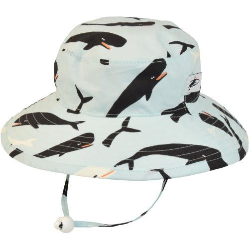 Puffin Gear Organic Cotton Sunbaby Hat - Moby Whale