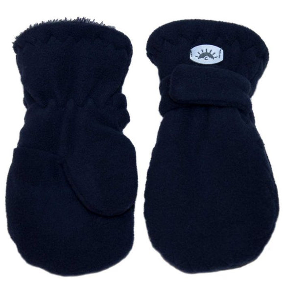 Fleece Mittens - navy