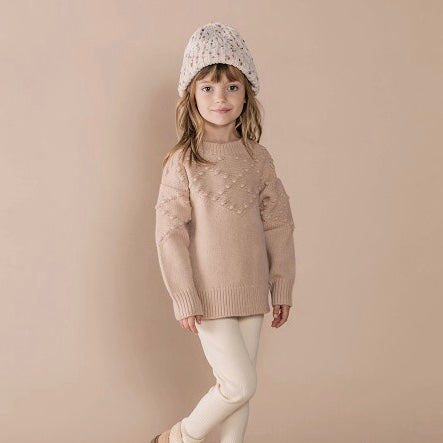 Rylee & Cru Bobble Sweater - Rose
