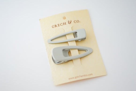 PRE-ORDER - Grech & Co Snap Matte Clip Set of 2 - Buff