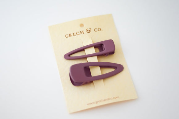 PRE-ORDER - Grech & Co Snap Matte Clip Set of 2 - Burlwood
