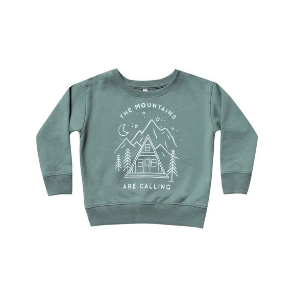 Rylee & Cru Mountains Are Calling Sweatshirt - Spruce