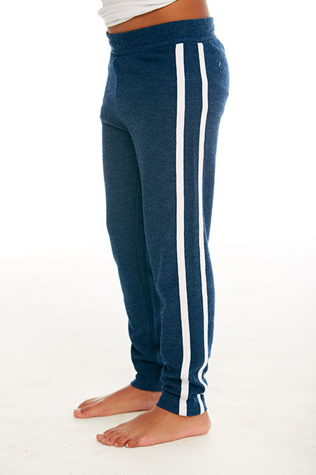 BOYS COZY KNIT TRACK PANT (AVALON AND WHITE)