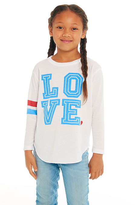 GIRLS VINTAGE JERSEY LONG SLEEVE SHIRTTAIL TEE (WHITE)