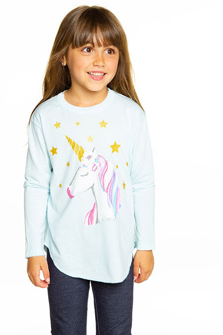 GIRLS VINTAGE JERSEY LONG SLEEVE SHIRTTAIL TEE