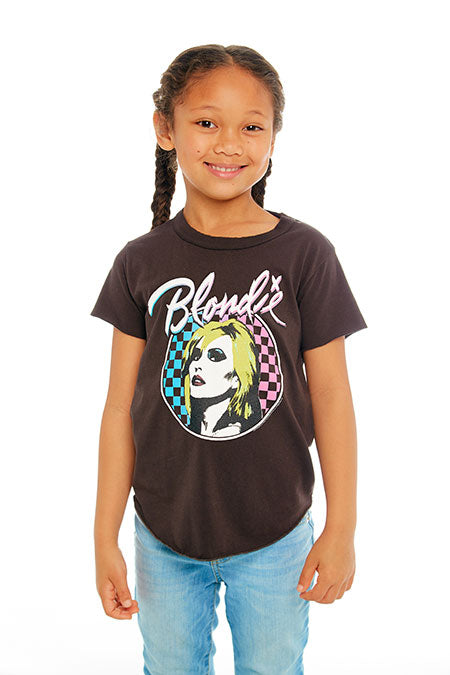 GIRLS VINTAGE JERSEY SHORT SLEEVE SHIRTTAIL CREW NECK TEE (UNION BLACK)