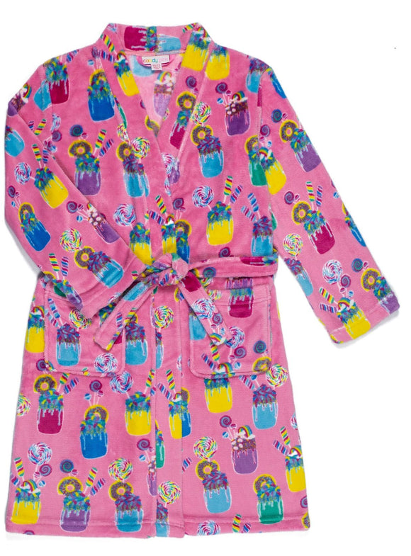 Candy Pink - Shakes Girls Fleece Robe