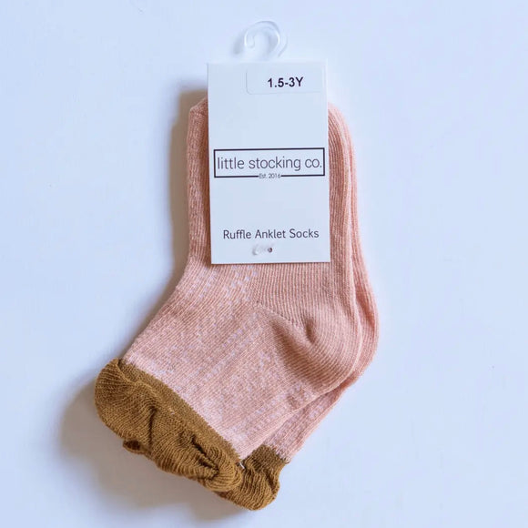 LIttle Stocking Co. Anklet Socks - Sedona Two-Tone