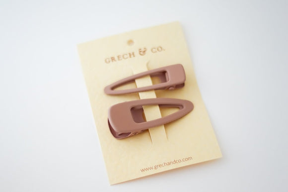 Grech & Co Snap Matte Clip Set of 2 - Shell