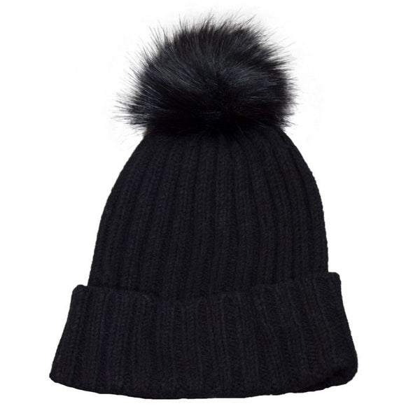 Calikids Pom Pom Hat - Black