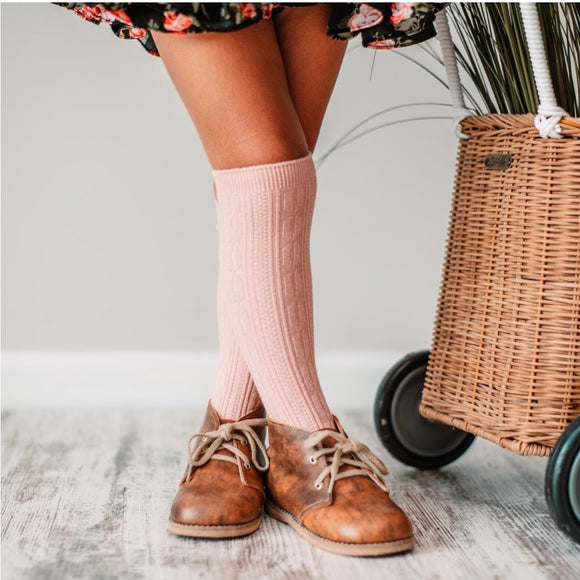 LIttle Stocking Co. Knee High Socks - Blush