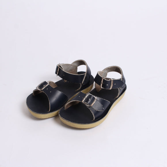 Navy salt water sandals