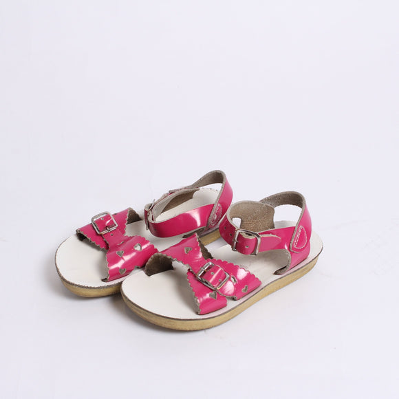 Pink heart salt water sandals