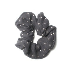 LWS Scrunchie - Black Polka Dot