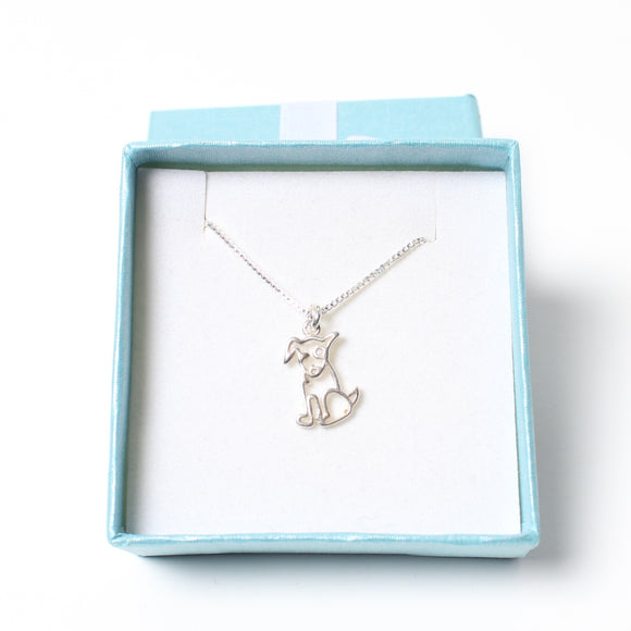Sterling Silver Necklace - Dog