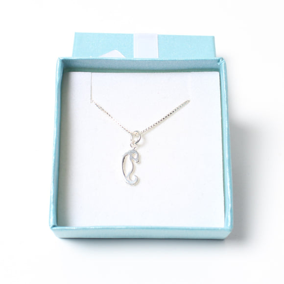 Sterling Silver Necklace - Seahorse