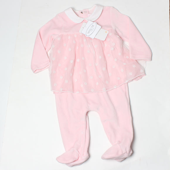 Mayoral Velour Onepiece - Rosa