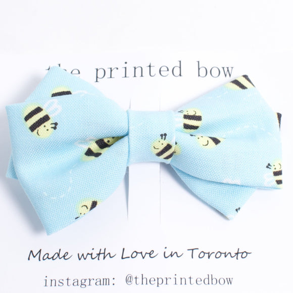 Printed Bow Hairclip/Bowtie - bumble bee