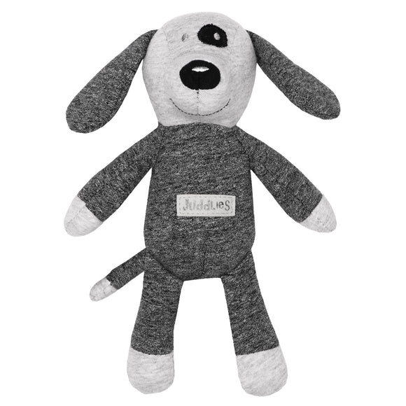 Juddlies Organic Cottage Rattle Dog - Graphite Black