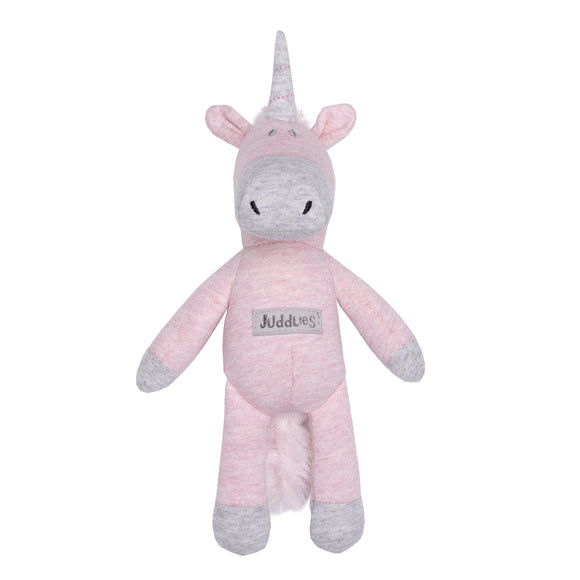 Juddlies Organic Cottage Rattle Unicorn - Dogwood Pink