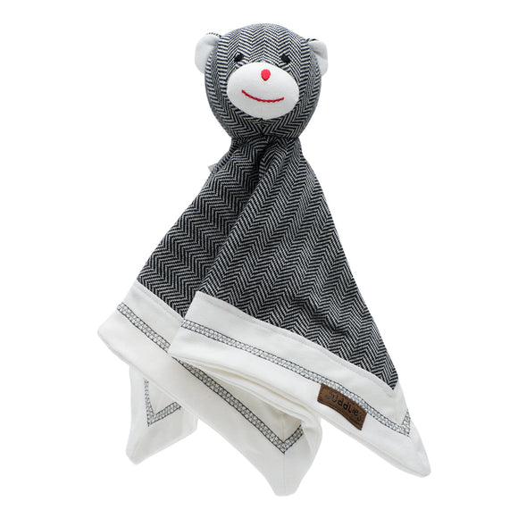 Juddlies Organic Cottage Lovey Bear - Bear Black