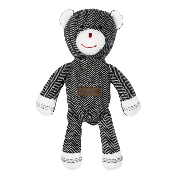 Juddlies Organic Cottage Rattle Bear - Bear Black