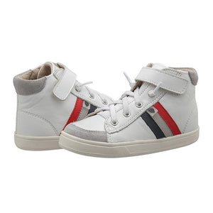 Old Soles Glambo High Top - Snow/Navy/Gris/Bright Red