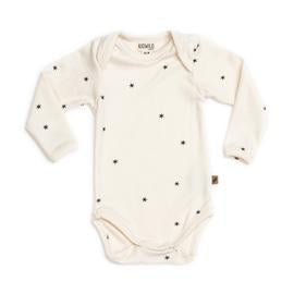 Organic Long Sleeve Bodysuit - Stars