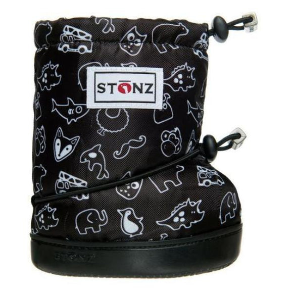 Stonz Black Booties- toddler