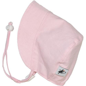 Puffin Gear Sun Protection Infant Bonnet- Pink Oxford
