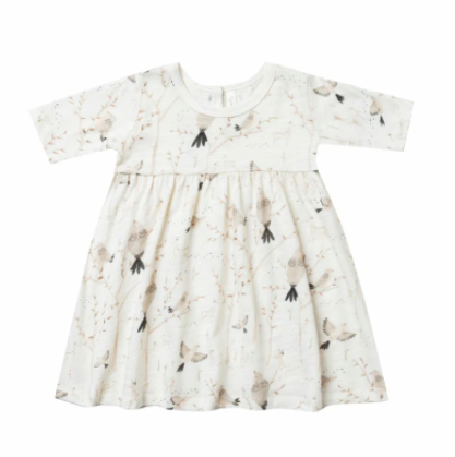 Rylee & Cru Winter Birds Finn Dress - Ivory