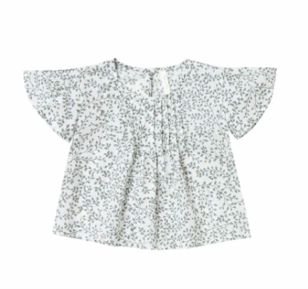 Rylee & Cru Dainty Leaves Blaire Blouse - Ivory