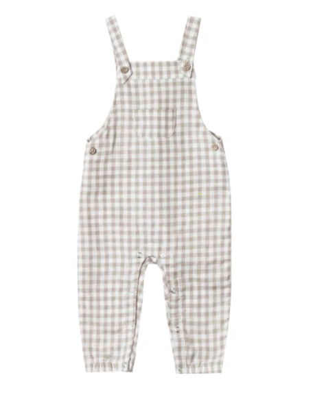 Rylee & Cru Gingham Overall - Grey