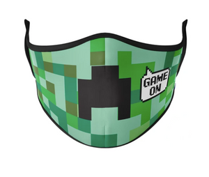 Pixels Reusable Face Masks - Child Large / Green