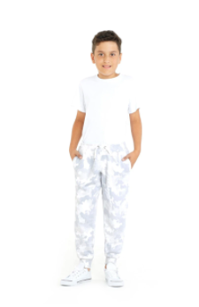 The Charlie Slim Jogger- White Camo