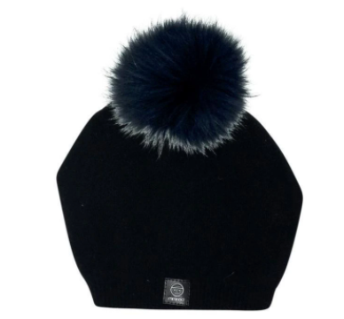Angora Blacl Lean Back Hat - Women's