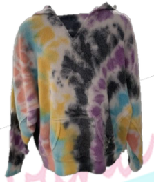 Vintage Havana Tie Dye Hooded Sweatshirt- Multi Swirl Colour