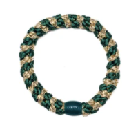 kknekki elastic- green & gold metallic